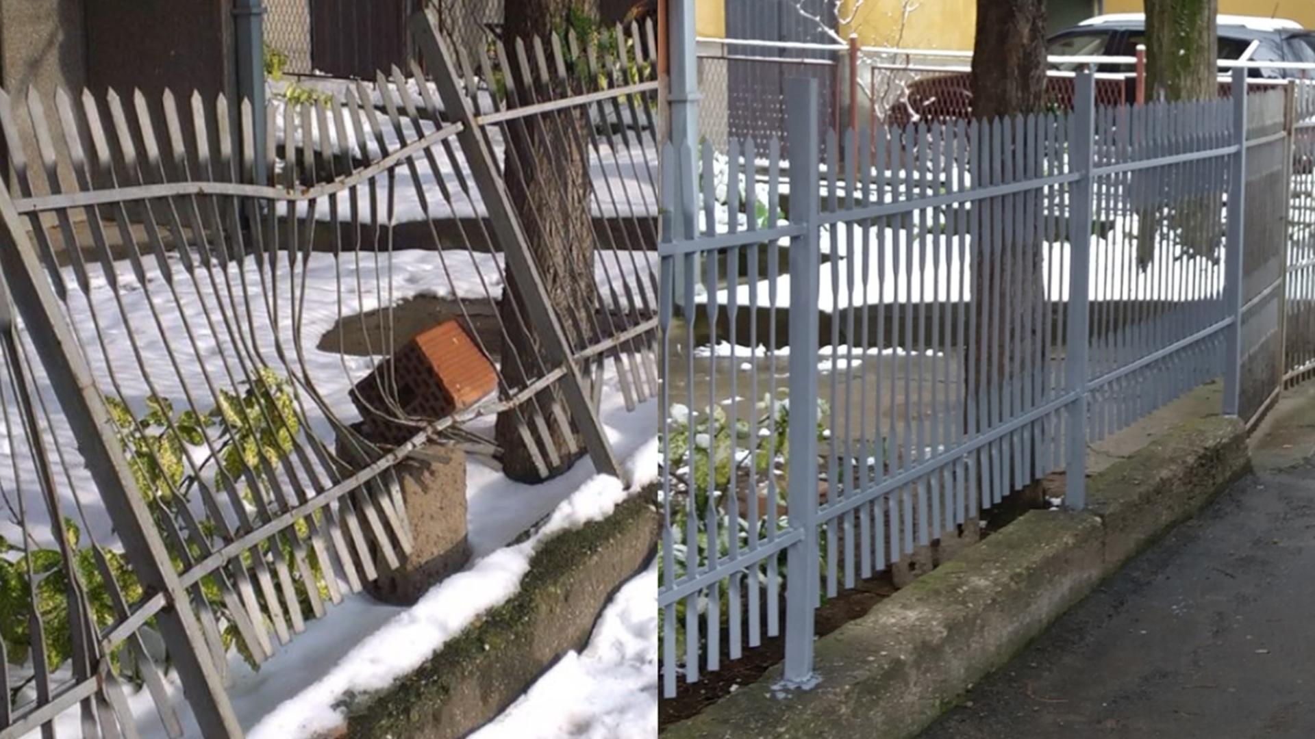 Popravka metalne ograde posle saobraćajne nezgode