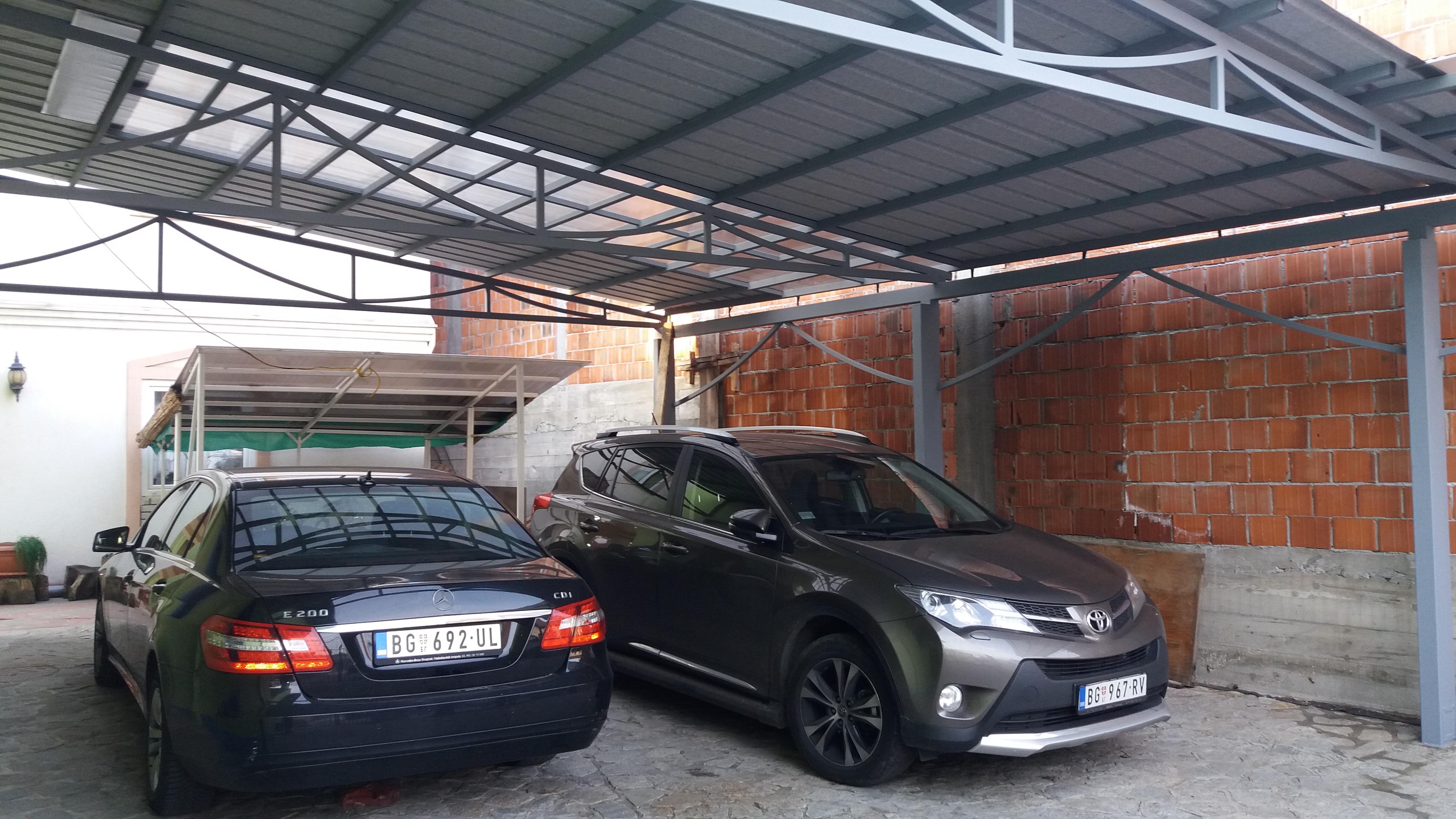 Izrada nadstrešnica za automobile