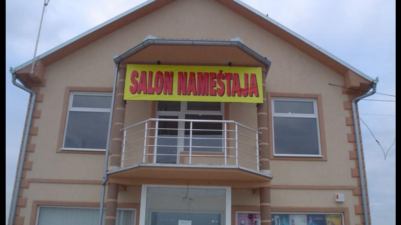 Aluminijumska ograda na terasi Salon nameštaja Šimanovci